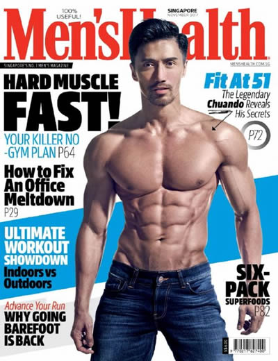 MENS HEALTH (SINGAPORE) - (12 ISSUES) $72.00