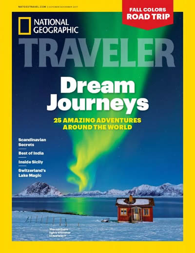 NATIONAL GEOGRAPHIC TRAVELER - (6 ISSUES) $90.00